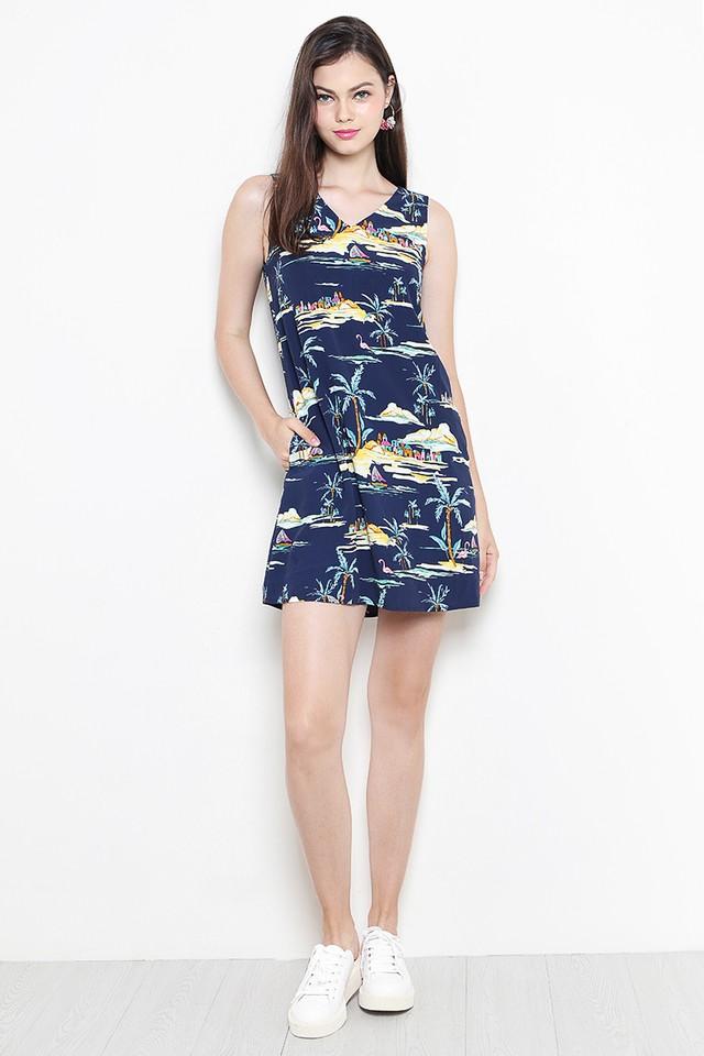 Islander Dress Navy