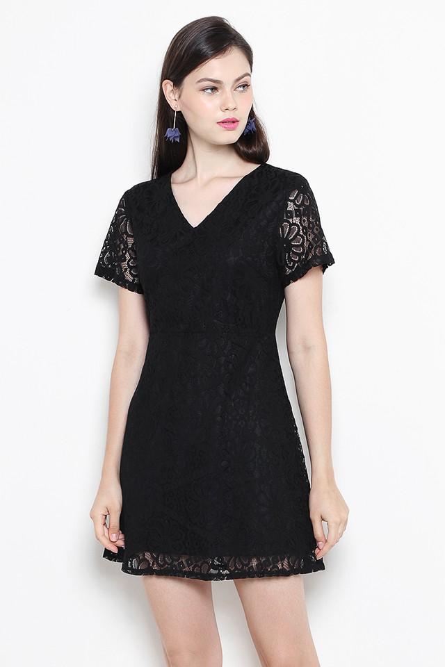 Anica Lace Dress Black