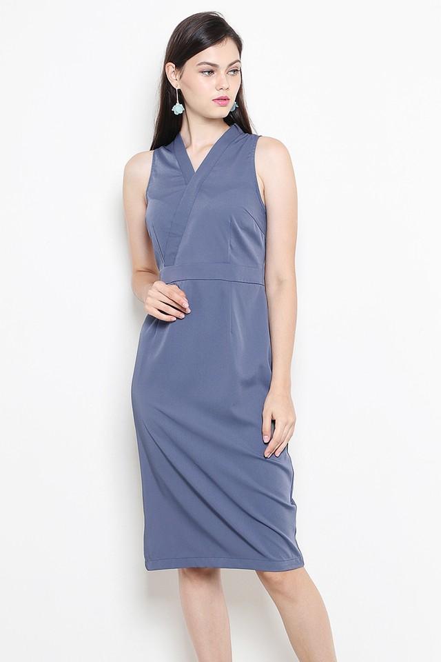 Liesel Dress Ash Blue