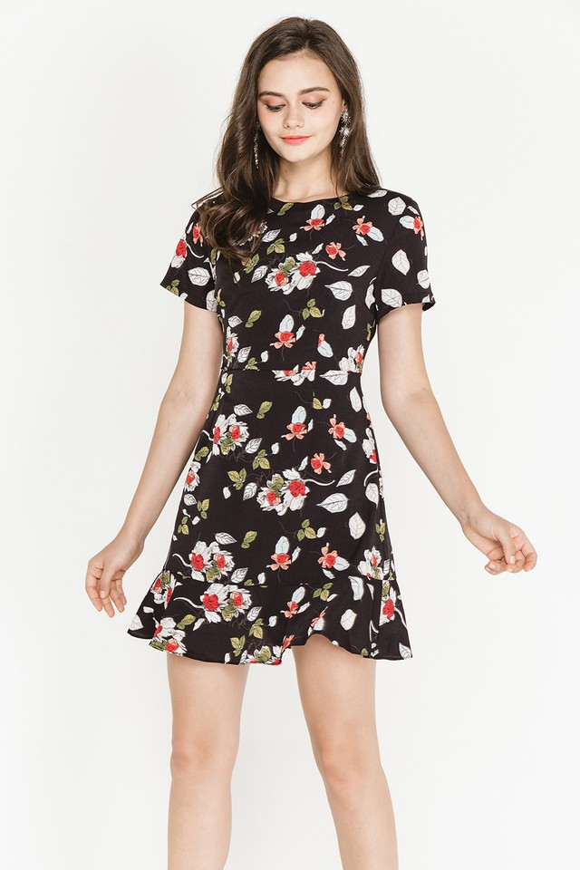Lavana Dress Black Floral