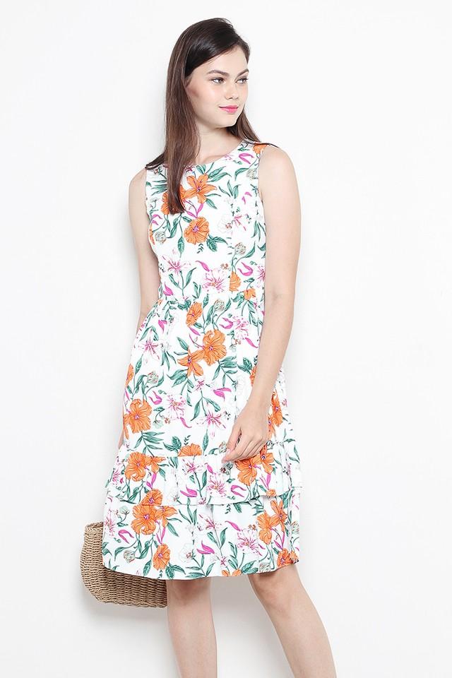 Brisa Dress White Floral