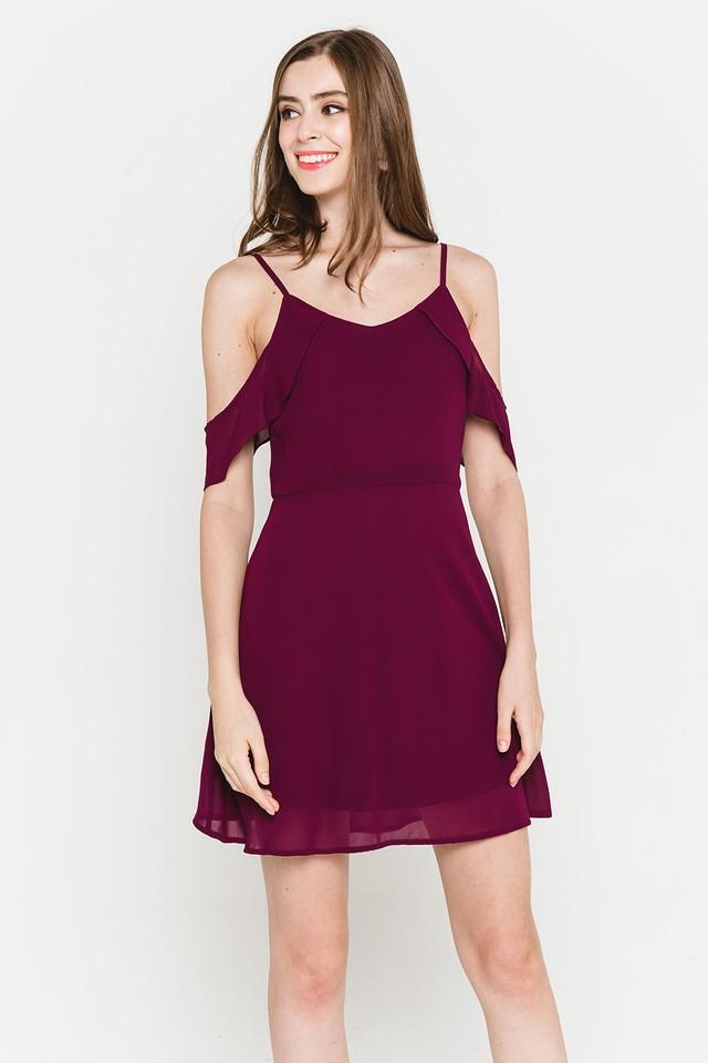 Saffron Dress Burgundy