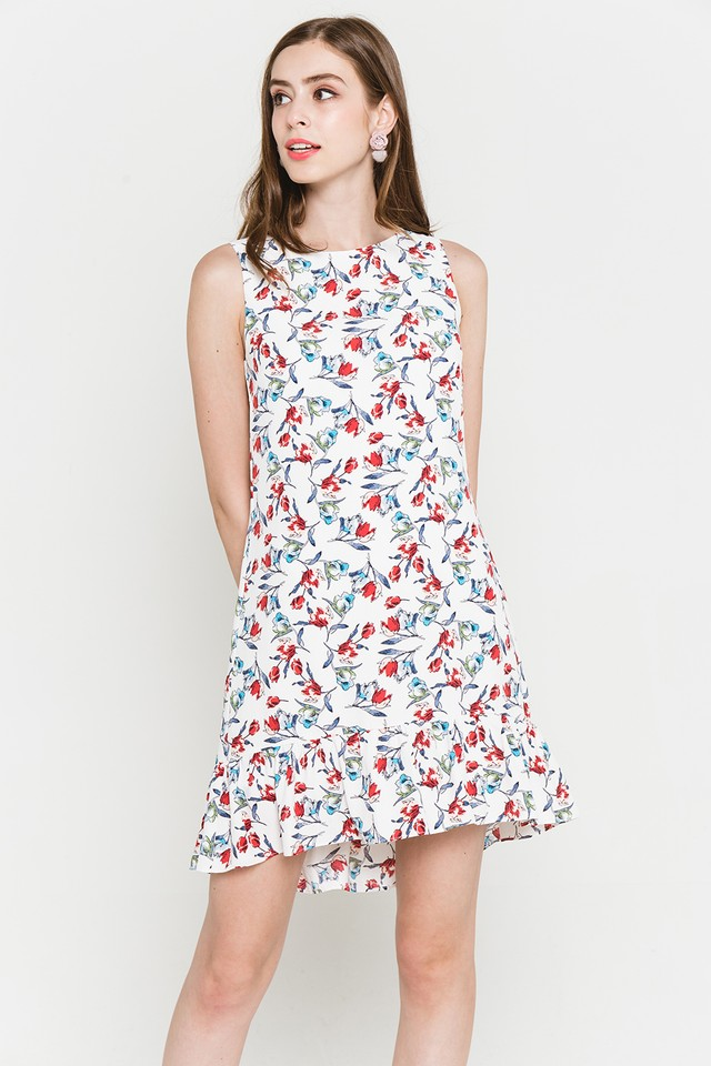 Dianne Dress White Floral