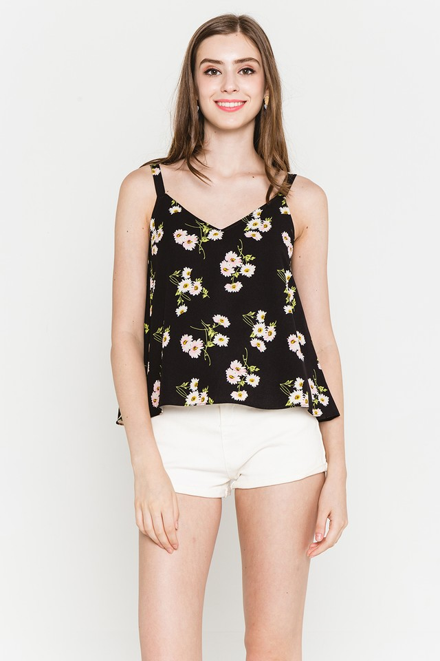 Jenni Top Black Floral