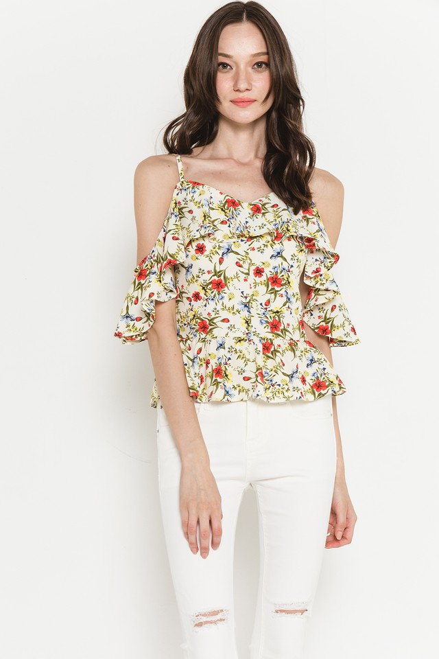 Hetty Top Cream Floral