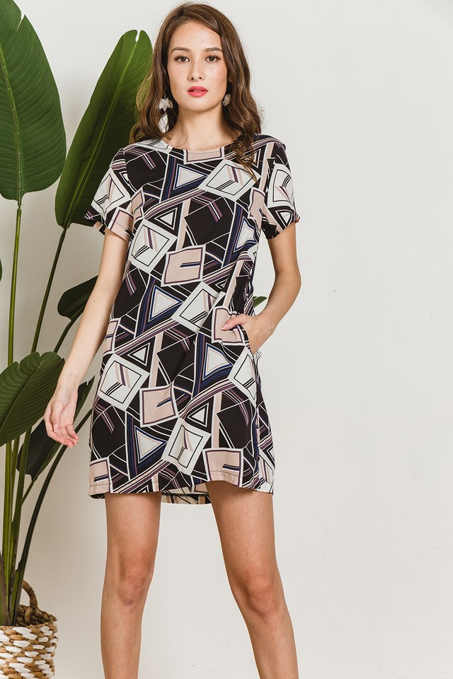 Marion Dress Geometric