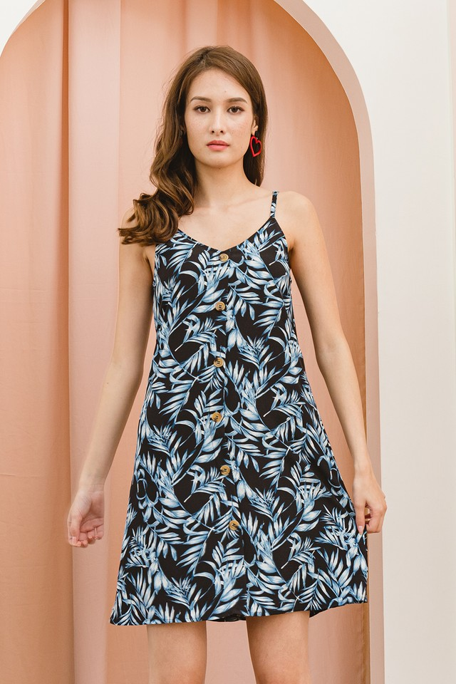Laurie Dress Black Tropical