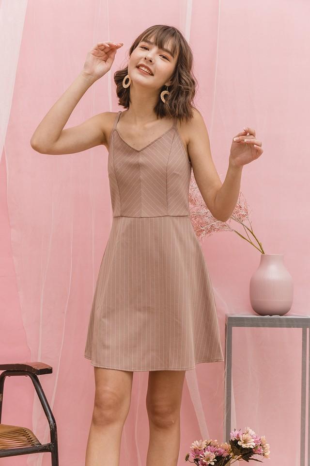 Sorrel Dress Pink Stripes