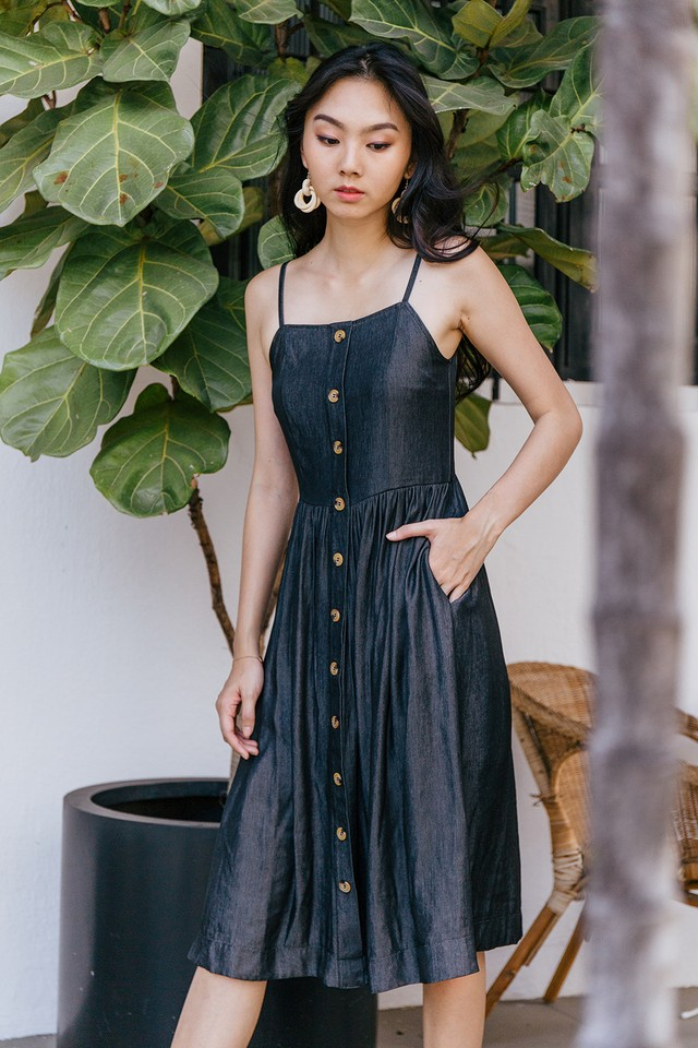Adelynn Dress Dark Wash