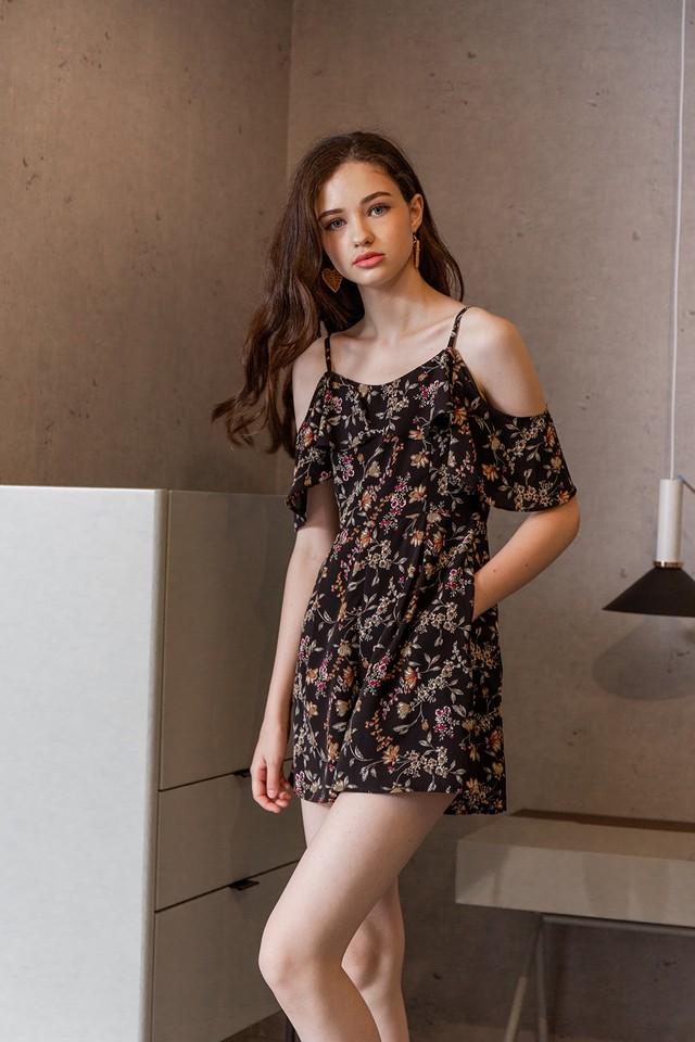 Laelia Playsuit Black Floral