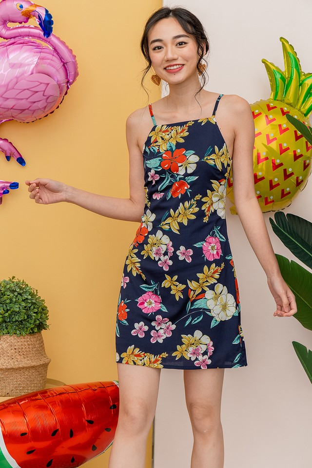 Robyn Dress Navy Floral