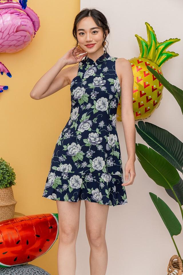 Bettina Dress Navy Floral