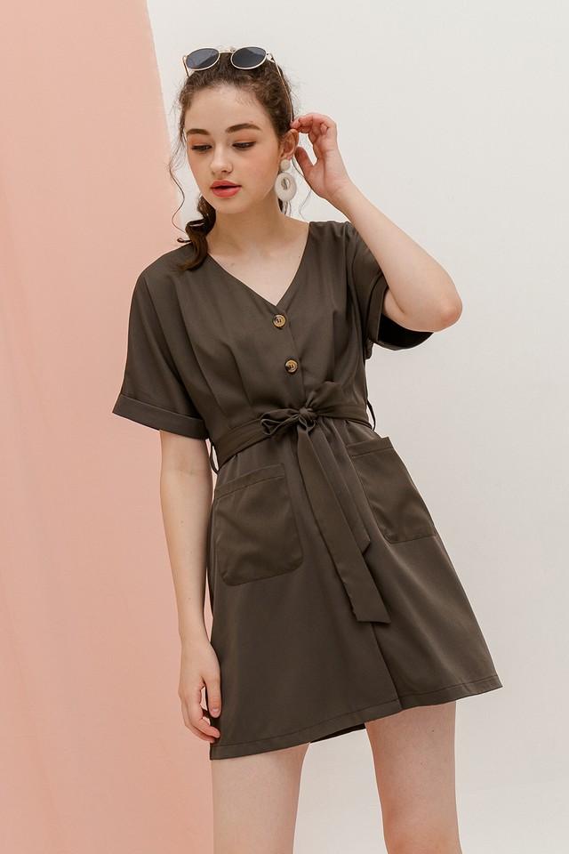 Ziva Dress Army