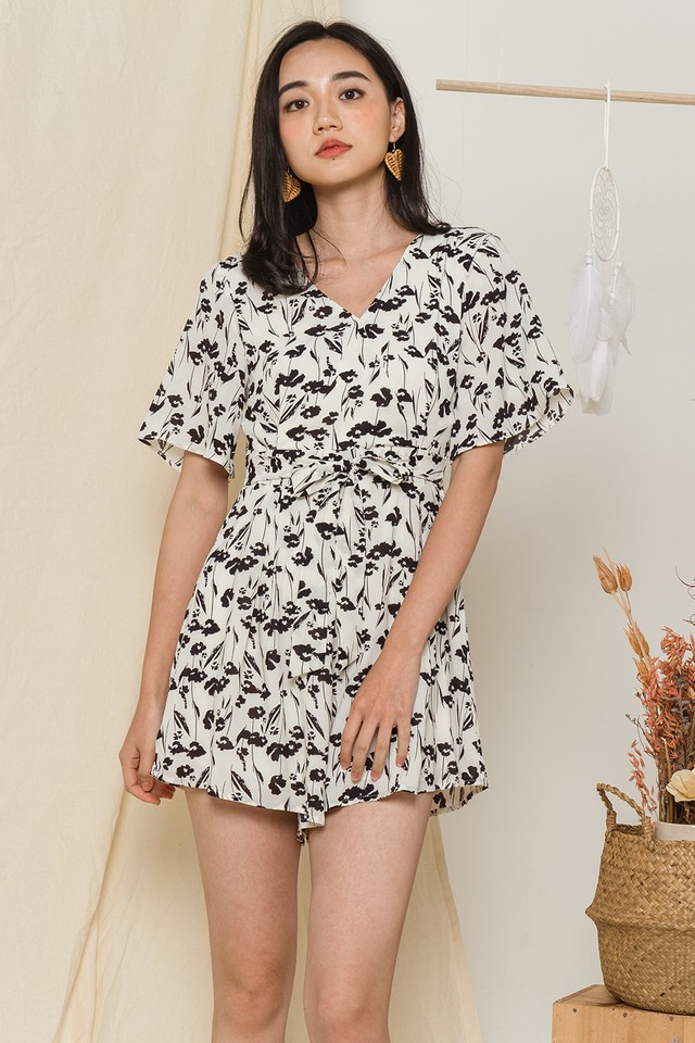 Isha Playsuit Black Floral