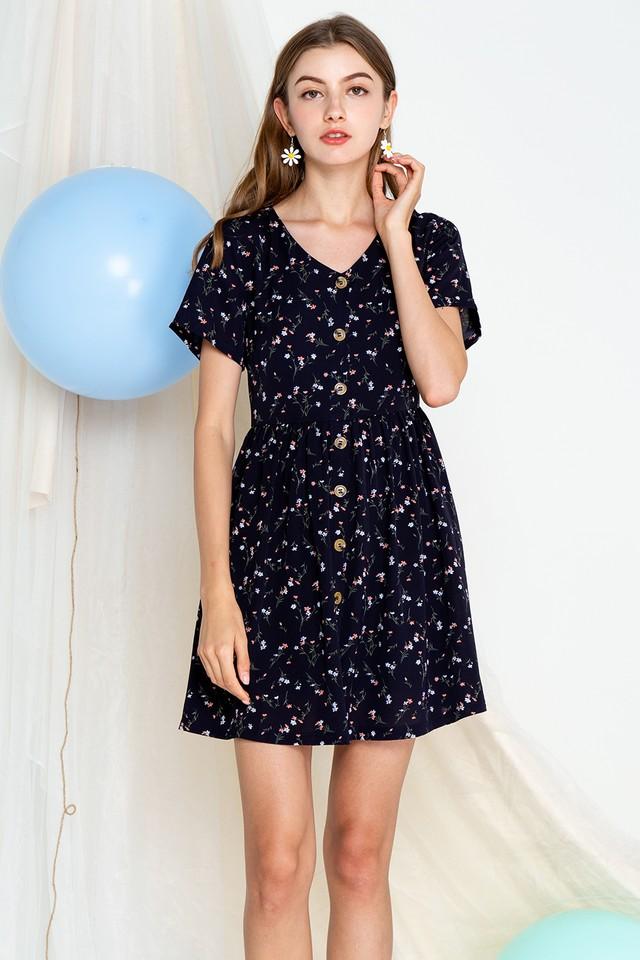 Khloe Dress Navy Floral