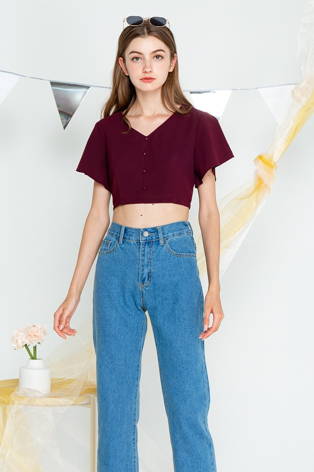 Belle Top Maroon