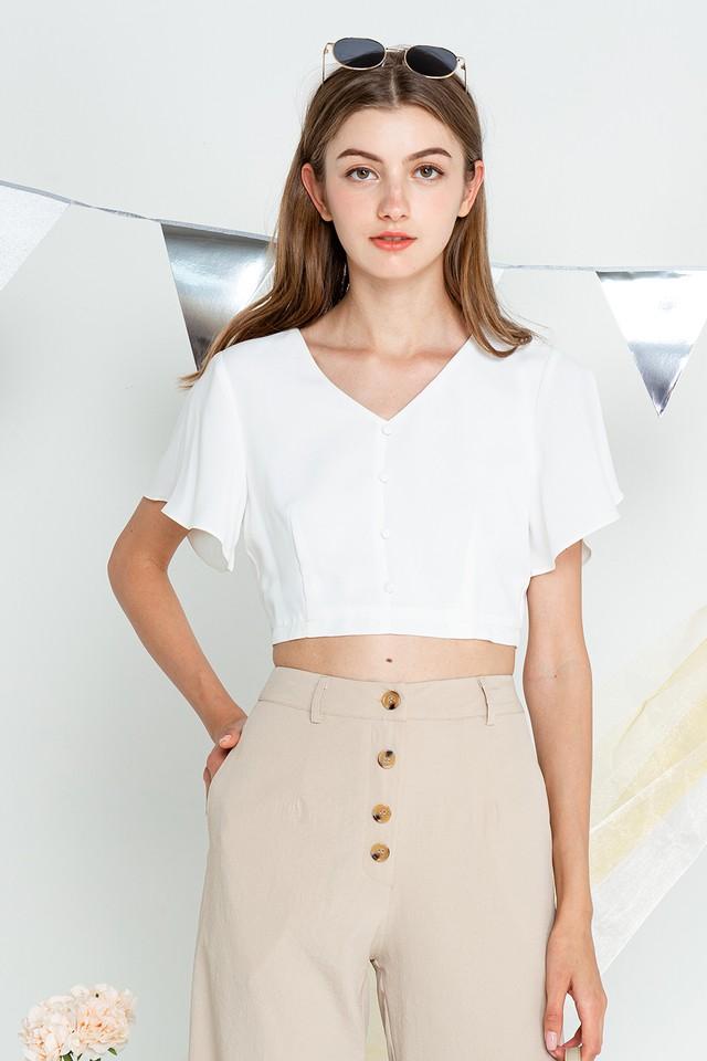 Belle Top White