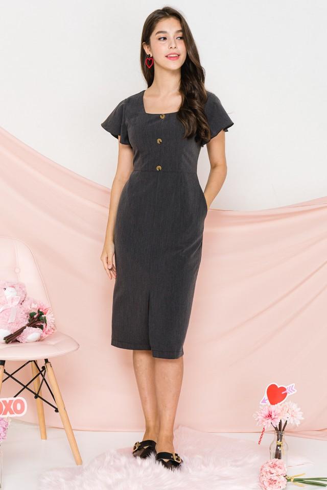 Evaline Dress Grey