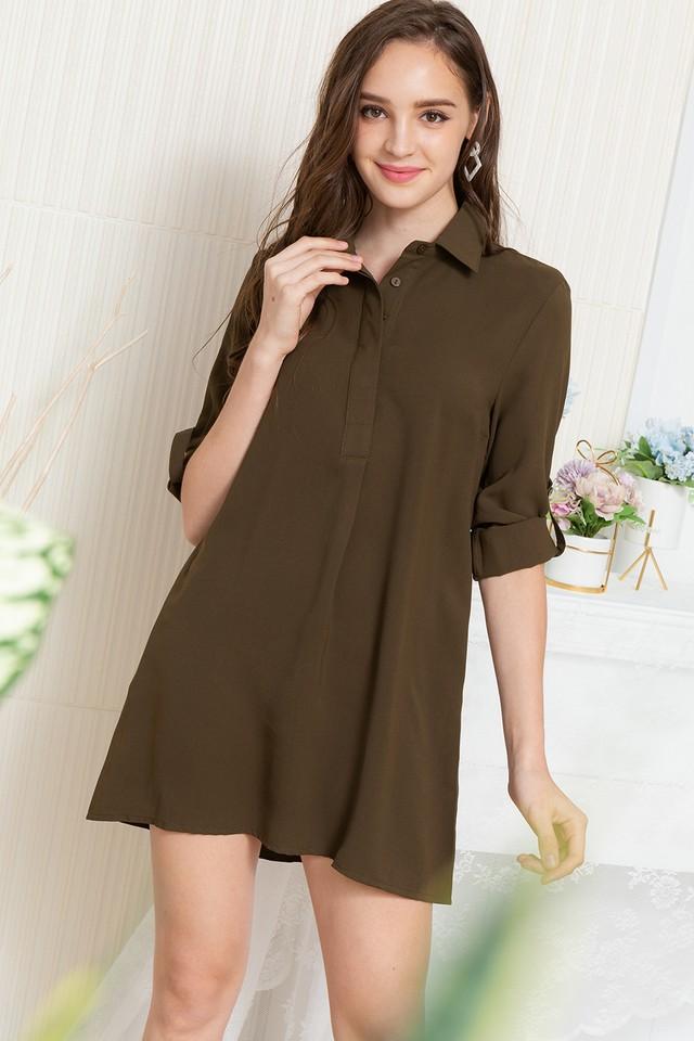 Ondine Shirtdress Army