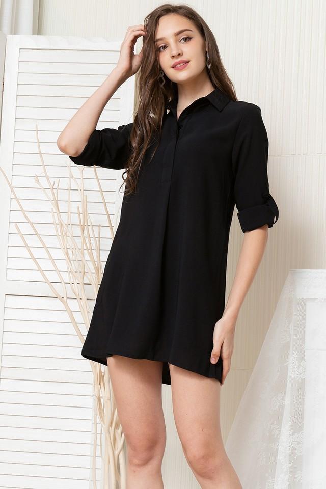 Ondine Shirtdress Black