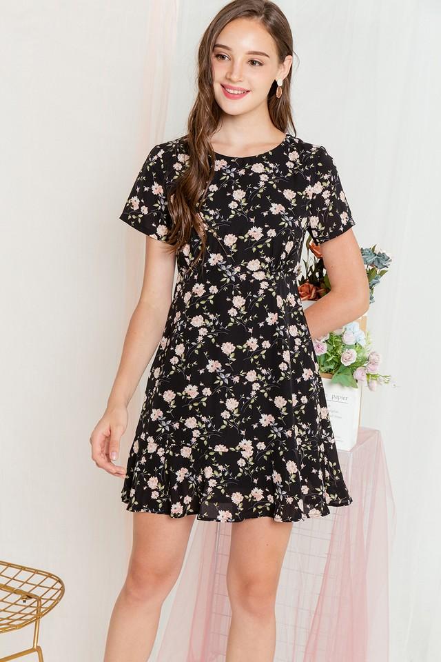 Bev Dress Black Floral