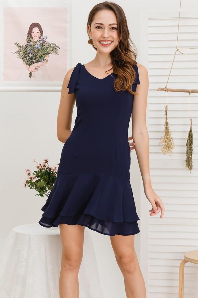 Mira Dress Navy
