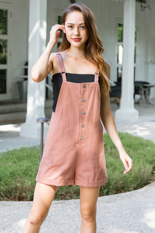 Laylla Dungaree Terracotta