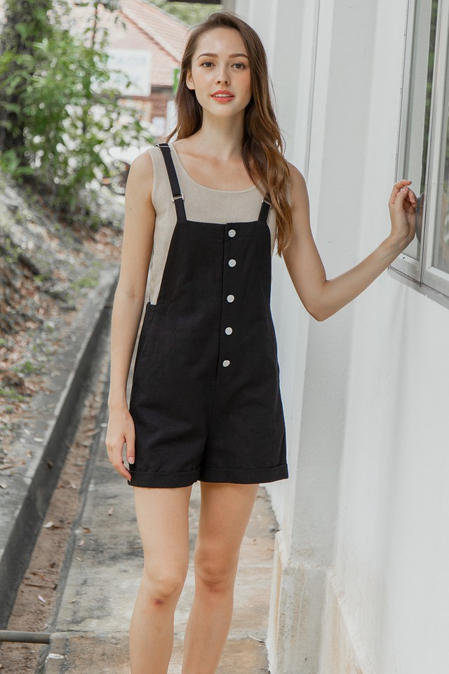 Laylla Dungaree Black