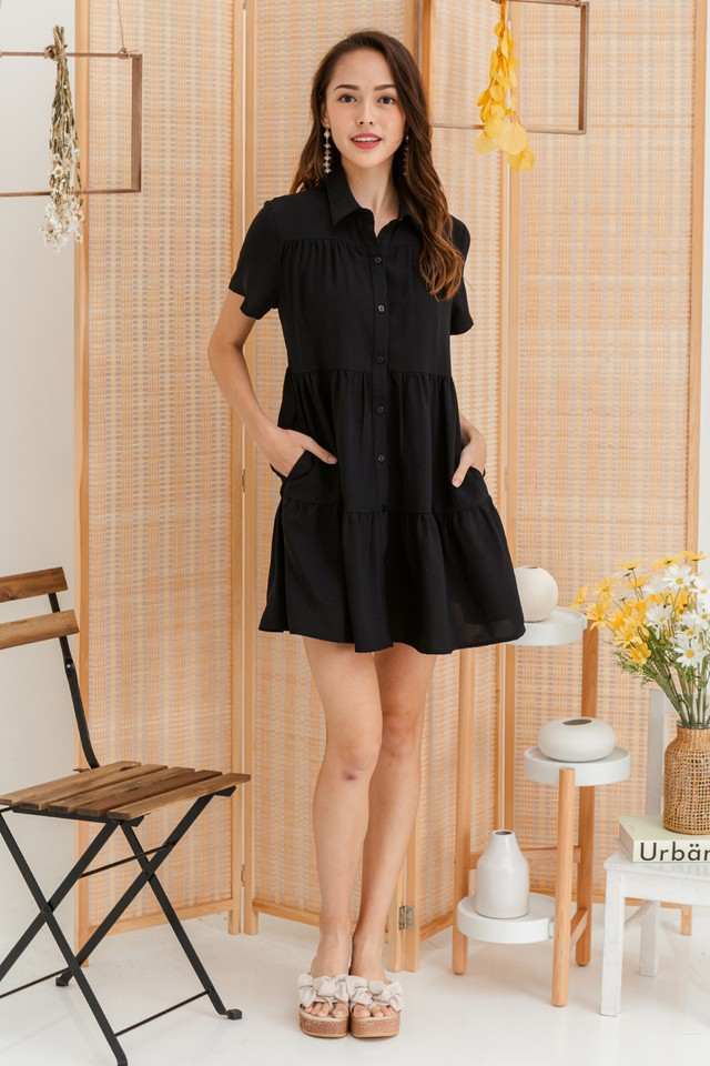 Jordana Shirtdress Black
