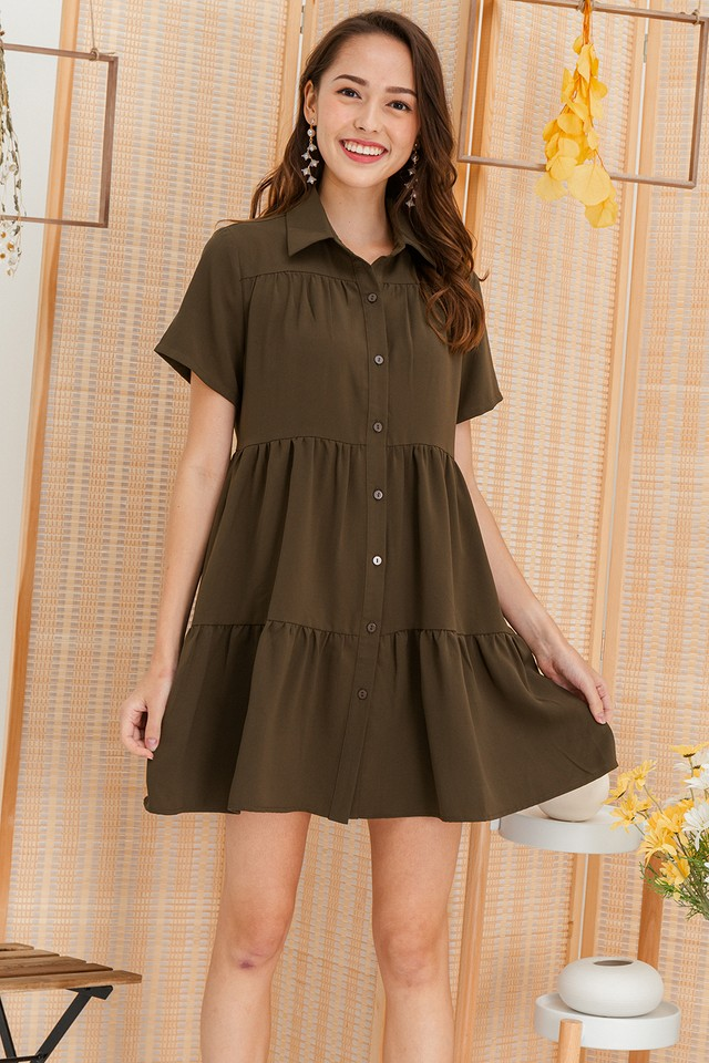Jordana Shirtdress Army