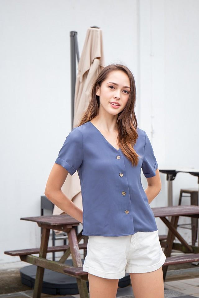 Keira Top Steel Blue