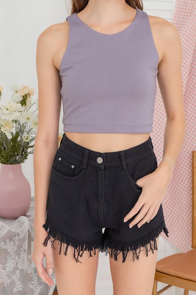 Shelly Denim Shorts Black