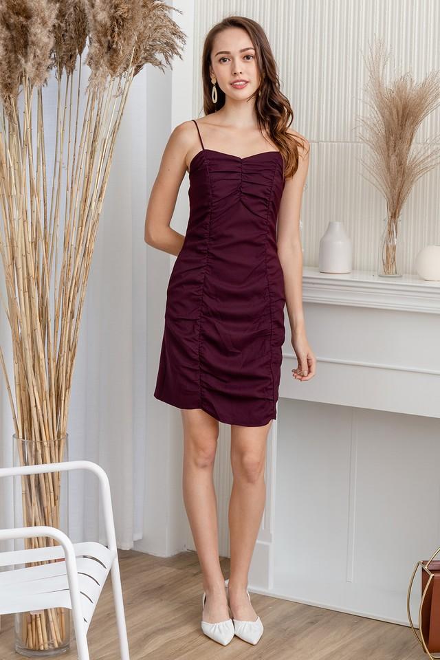 Mazie Dress Burgundy