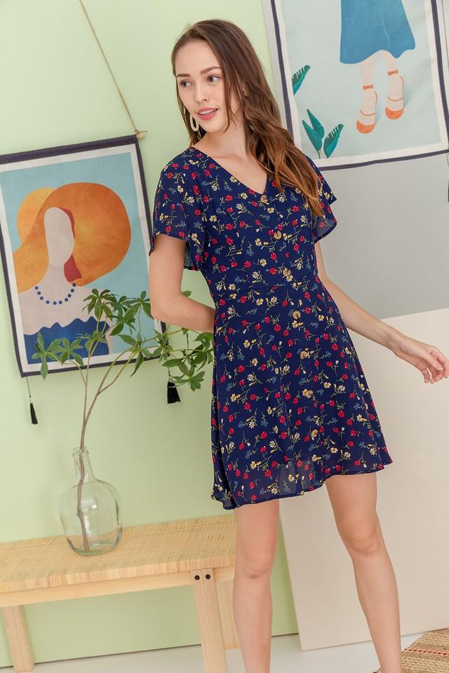Brynna Dress Navy Floral