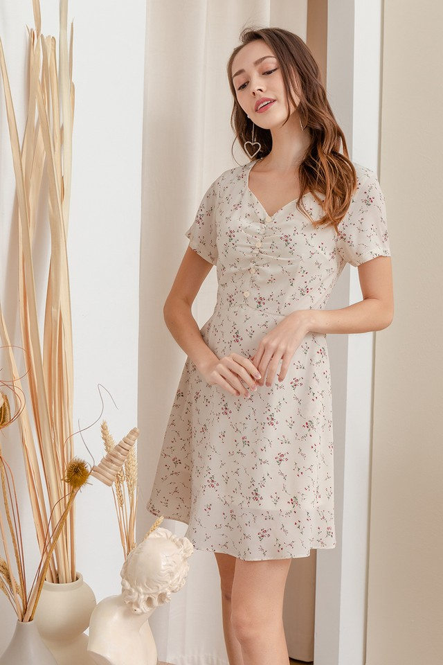Lani Dress White Floral