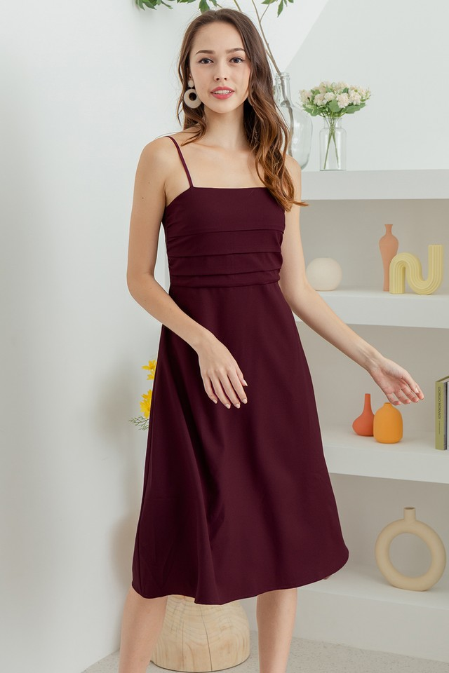 Mathilde Dress Maroon