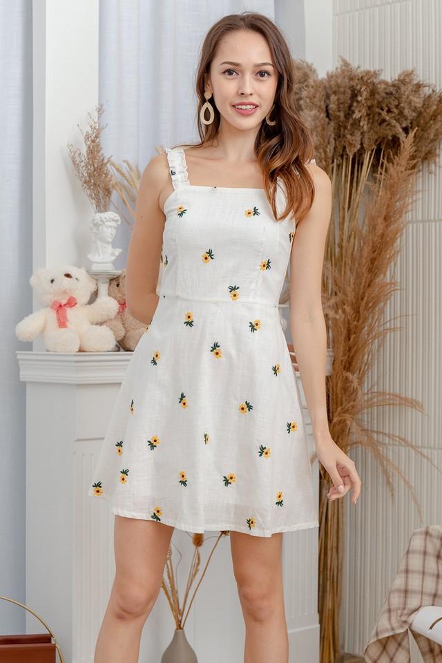 Audwin Dress Yellow Sunflower