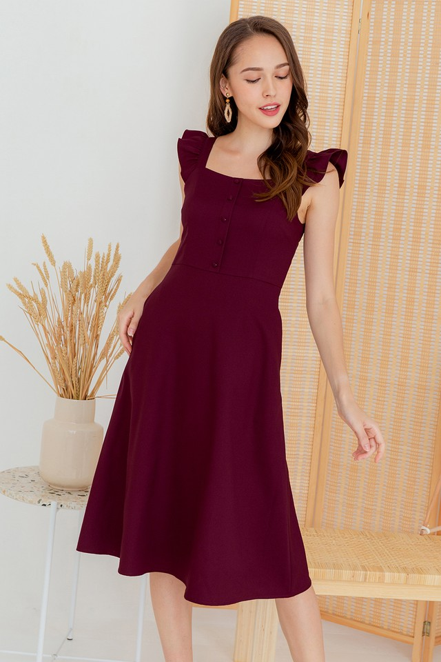 Denvera Dress Maroon