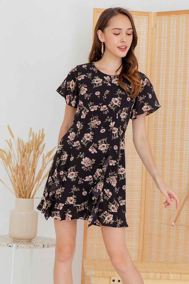 Karia Dress Black Floral