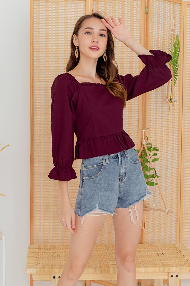 Andres Top Burgundy