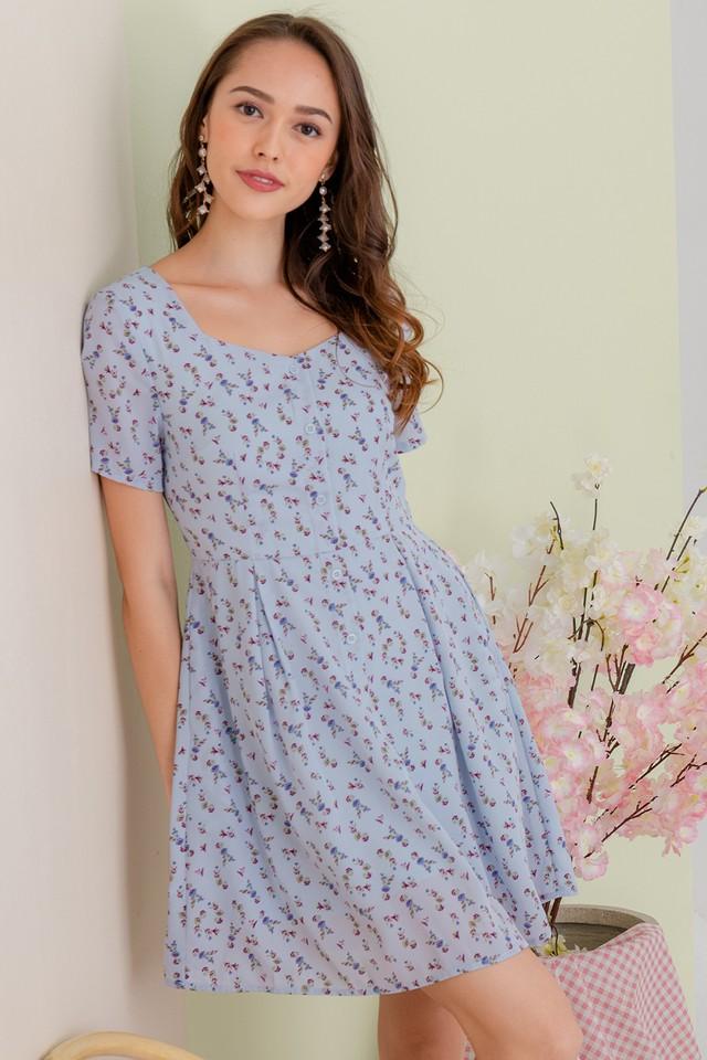 Yandel Dress Blue Floral