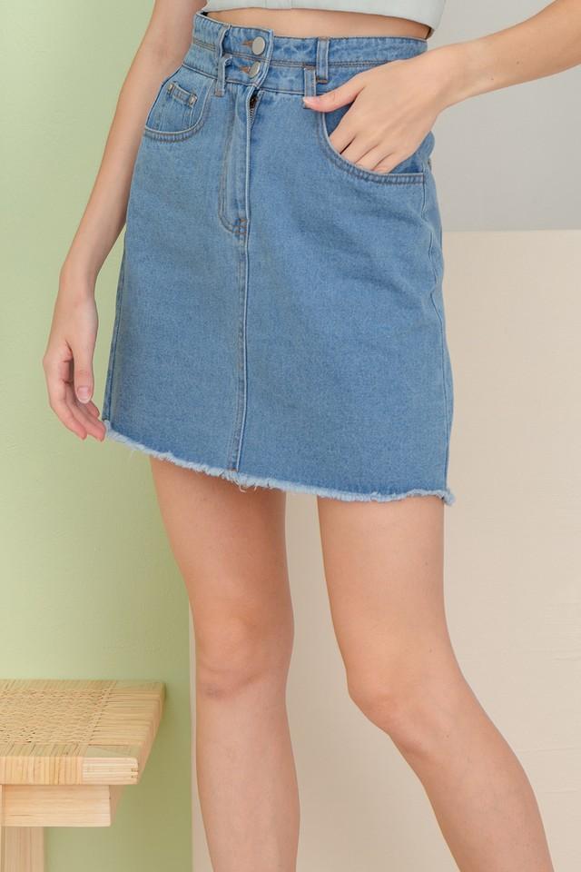 Pira Denim Skirt Mid Wash