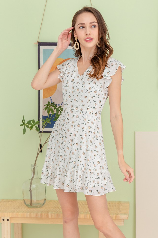 Kendy Dress White Floral