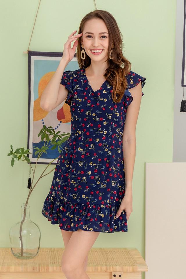 Kendy Dress Navy Floral