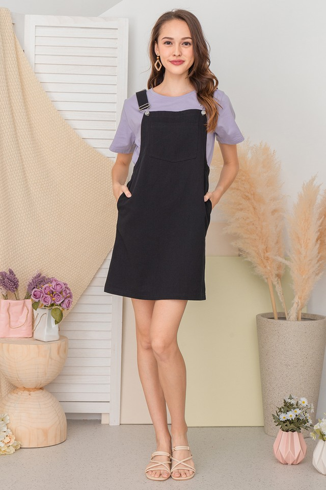 Rocio Pinafore Black