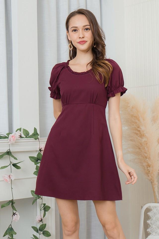 Scottia Dress Burgundy