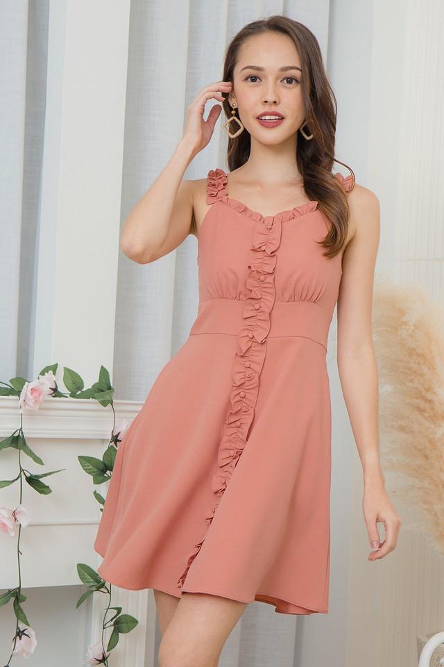 Waylona Dress Coral