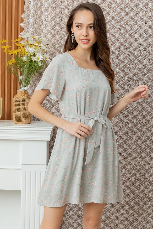 Zaynie Dress Mint Floral