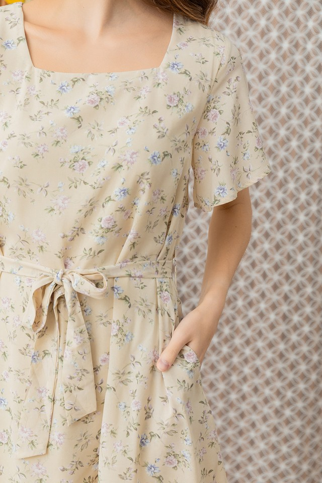 Zaynie Dress Cream Floral