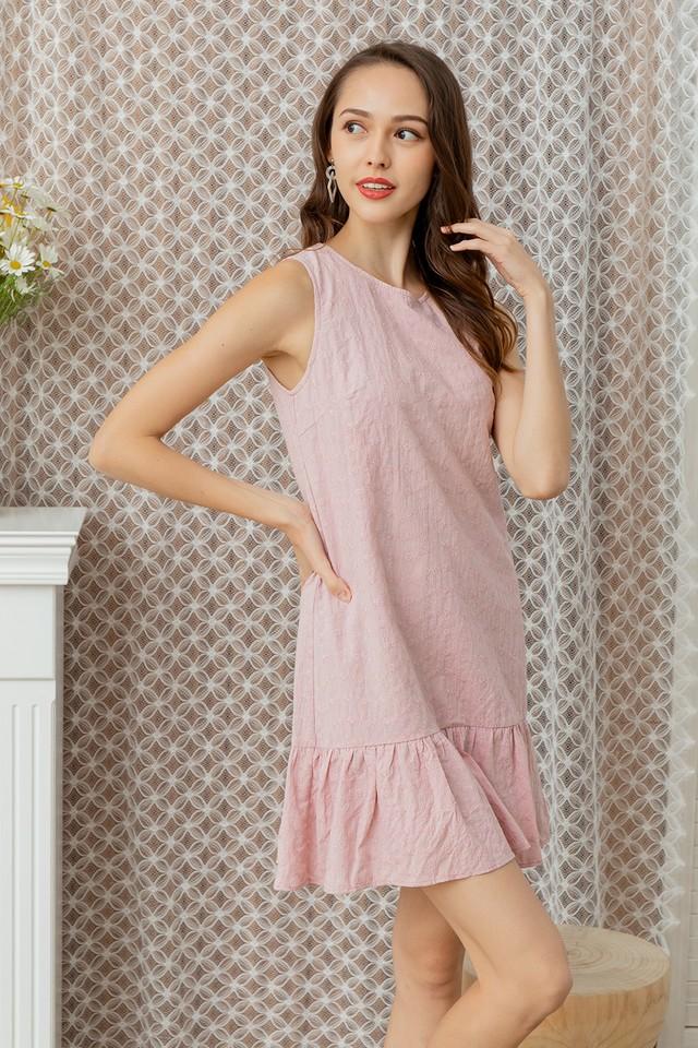 Mavina Eyelet Dress Pastel Pink